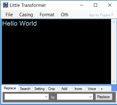 Little Transformer: Text Editor with TTS – P-Library